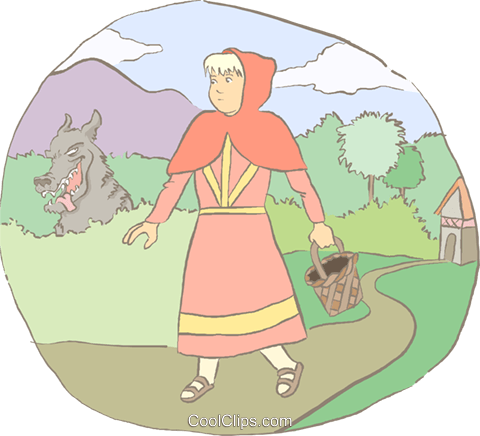 Little Red Riding Hood Vektor Clipart Bild peop4184