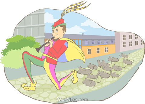 pied piper Royalty Free Vector Clip Art illustration peop4185