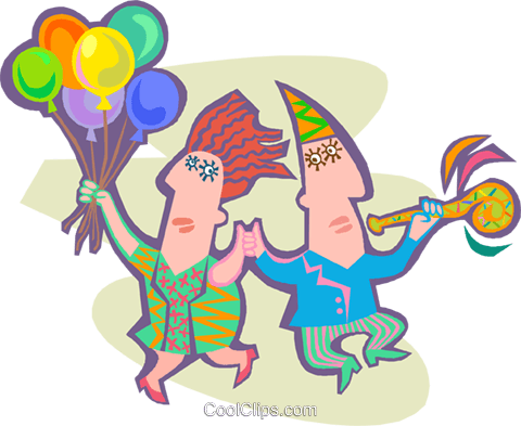 People partying Royalty Free Vector Clip Art illustration peop4186
