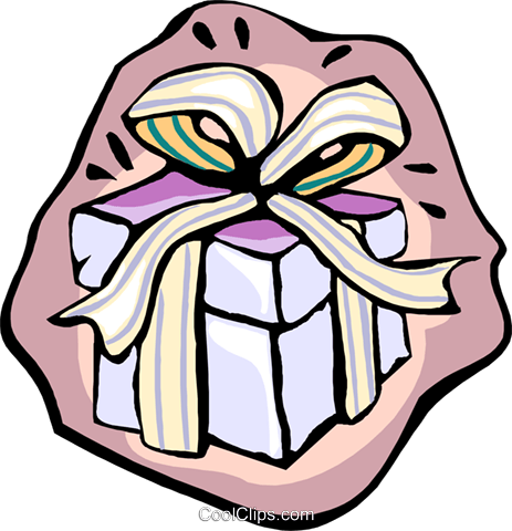Large gift Royalty Free Vector Clip Art illustration spec0416