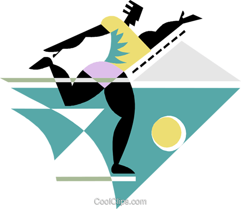 Figure running with ball Royalty Free Vector Clip Art illustration spor0514