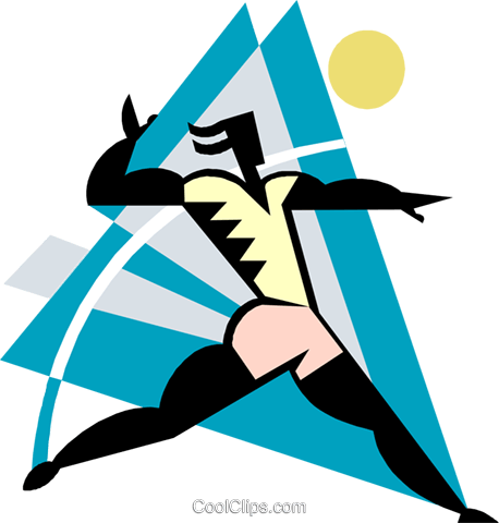 Volleyball player serving the ball Royalty Free Vector Clip Art illustration spor0517