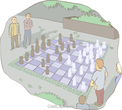 chess game Royalty Free Vector Clip Art illustration spor0521