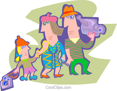 family outing Royalty Free Vector Clip Art illustration peop4196