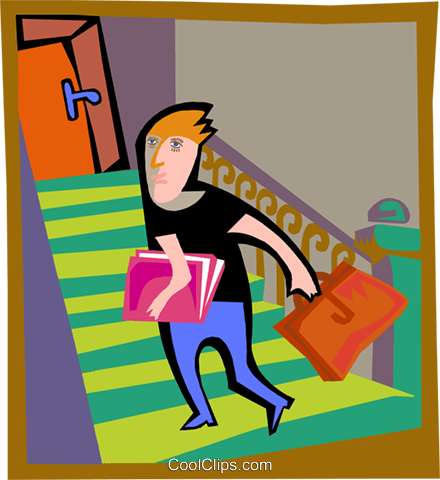 man climbing stairs Royalty Free Vector Clip Art illustration peop4204
