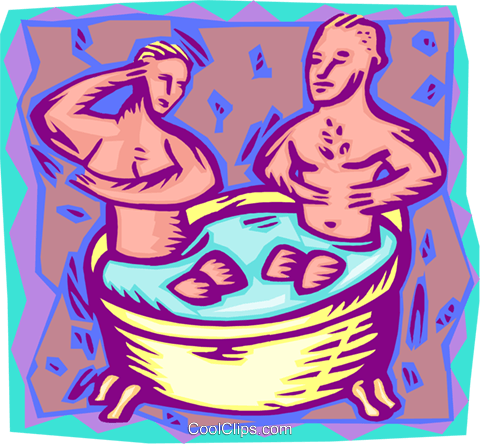 rub-a-dub-dub, two in a tub Royalty Free Vector Clip Art illustration peop4220
