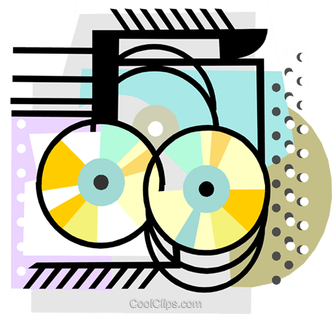 Compact Disk motif Royalty Free Vector Clip Art illustration busi2407