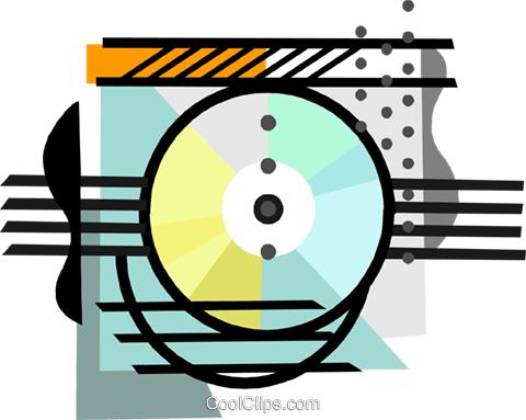 industry, CD-ROM recording Royalty Free Vector Clip Art illustration busi2408