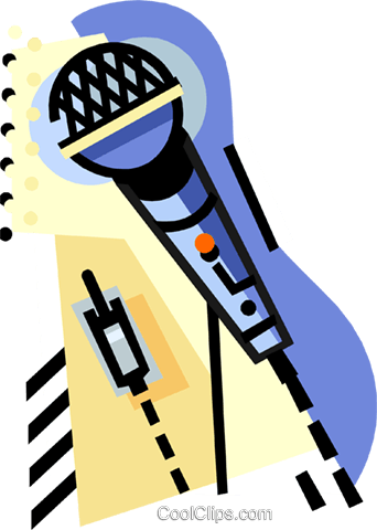 geotechnical style, microphone Royalty Free Vector Clip Art illustration ente0223
