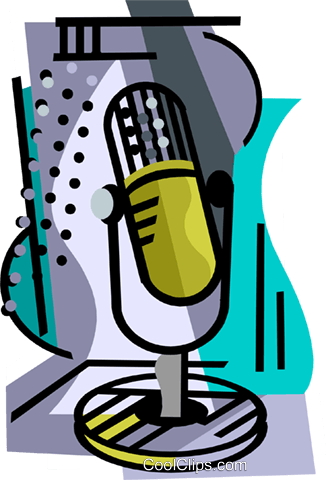 Microphone Royalty Free Vector Clip Art illustration ente0224