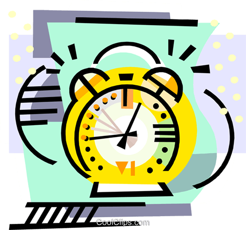 Alarm clock Royalty Free Vector Clip Art illustration hous1511