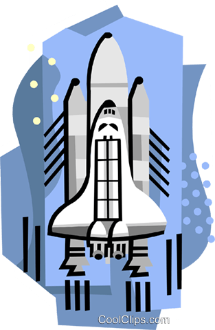 Shuttle Royalty Free Vector Clip Art illustration indu1061