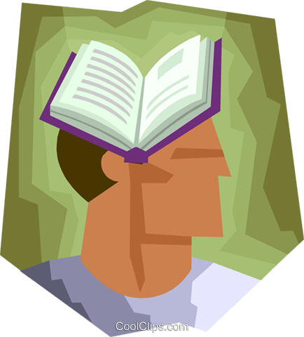 Man with book Royalty Free Vector Clip Art illustration busi2424