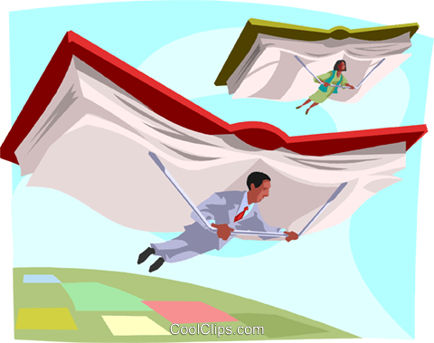 business people soaring Royalty Free Vector Clip Art illustration busi2431