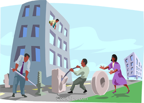moving people throughout an organization Royalty Free Vector Clip Art illustration busi2439