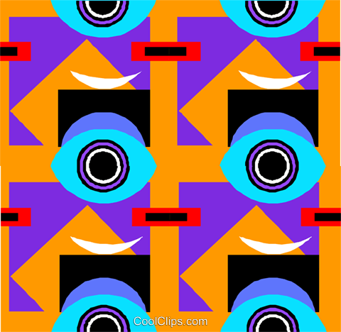 Cool wallpaper pattern Royalty Free Vector Clip Art illustration divi0327
