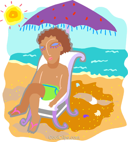 day at the beach Royalty Free Vector Clip Art illustration peop4231