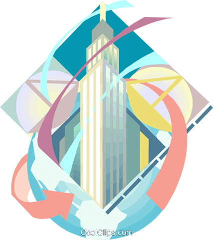 Empire State Building Royalty Free Vector Clip Art illustration arch0616