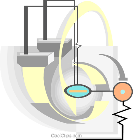 Computer circuit Royalty Free Vector Clip Art illustration busi2449