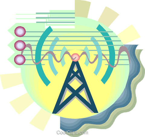 Power tower, communications symbol Royalty Free Vector Clip Art illustration busi2455