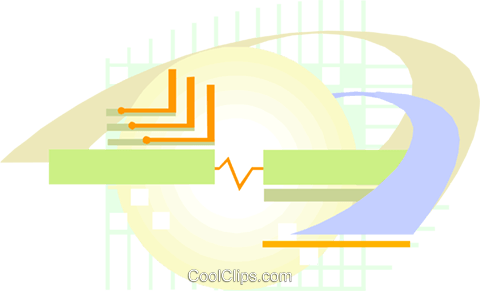 Computer circuit Royalty Free Vector Clip Art illustration divi0372