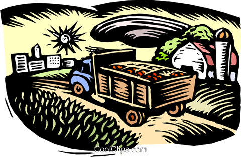 moving from farm Royalty Free Vector Clip Art illustration indu1063