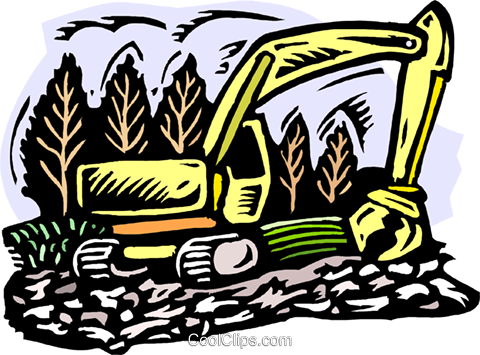 Clearing land Royalty Free Vector Clip Art illustration indu1068