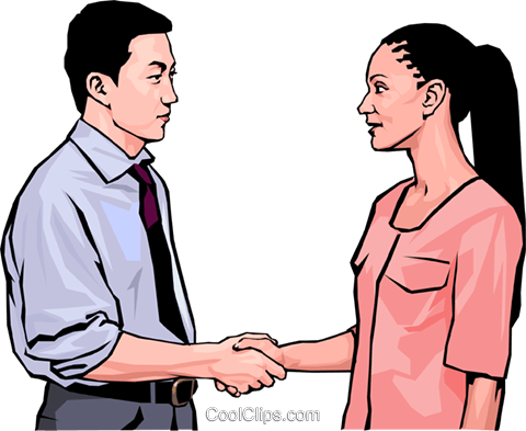 business greeting, handshake Royalty Free Vector Clip Art illustration peop4235