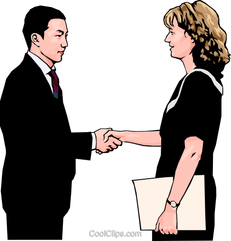 business greeting, handshake Royalty Free Vector Clip Art illustration peop4243