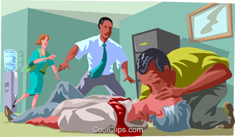 Mouth to mouth resuscitation Royalty Free Vector Clip Art illustration medi0366
