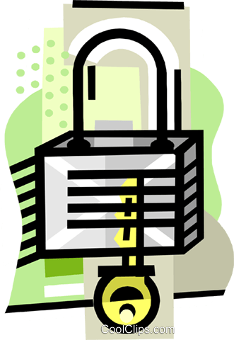 Lock Royalty Free Vector Clip Art illustration busi2470