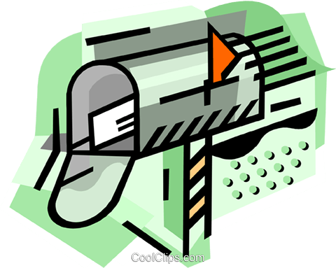 Mailbox with letter Royalty Free Vector Clip Art illustration busi2471