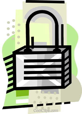 industry, lock Royalty Free Vector Clip Art illustration busi2472
