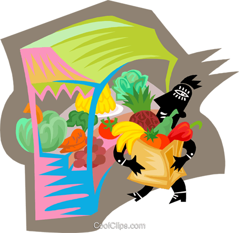 Figure purchasing produce Royalty Free Vector Clip Art illustration busi2499
