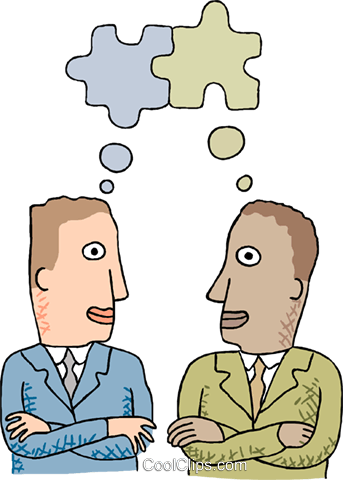 businessmen thinking about goals Royalty Free Vector Clip Art illustration busi2509