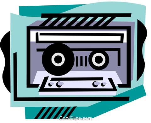 Cassette tape Royalty Free Vector Clip Art illustration ente0232