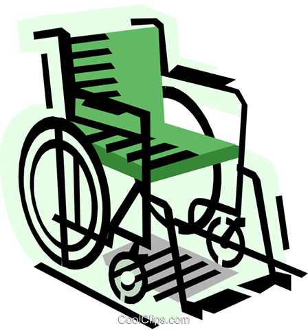 Wheelchair Royalty Free Vector Clip Art illustration medi0393