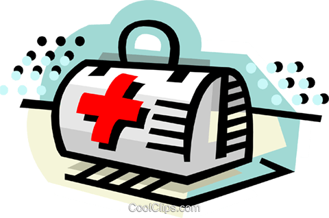 First aid kit Royalty Free Vector Clip Art illustration medi0397