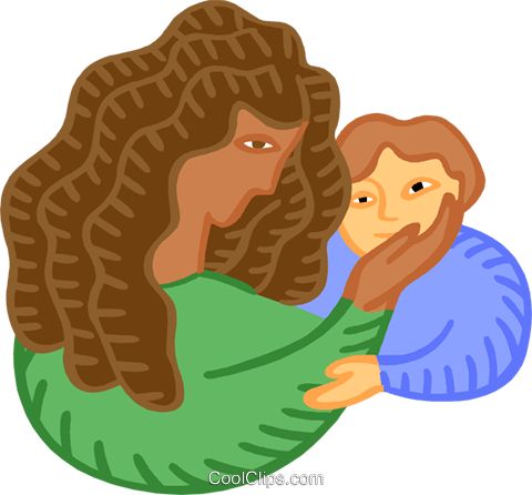 Mother with child Royalty Free Vector Clip Art illustration peop4253