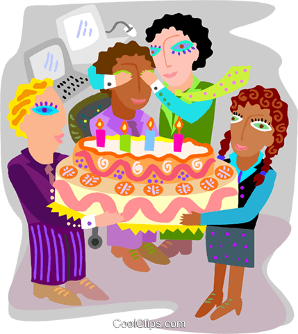 Employee birthday party Royalty Free Vector Clip Art illustration spec0430