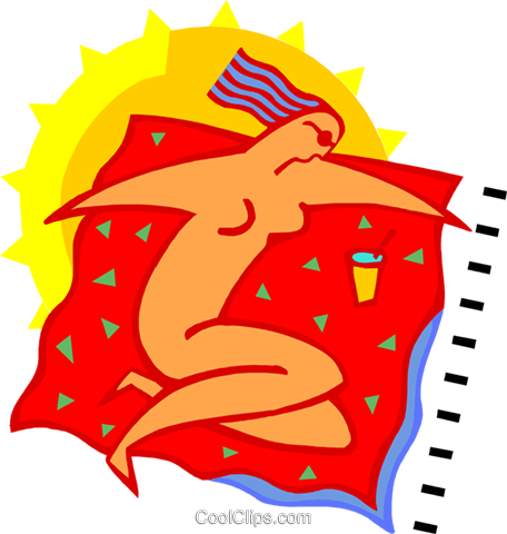 Figure sunbathing Royalty Free Vector Clip Art illustration spor0545