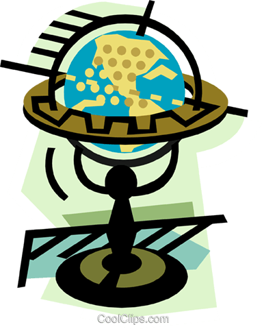 geotechnical style, globe Royalty Free Vector Clip Art illustration trav0213