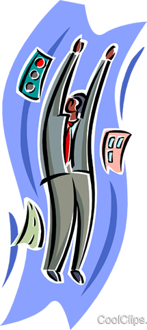 business man Royalty Free Vector Clip Art illustration busi2545