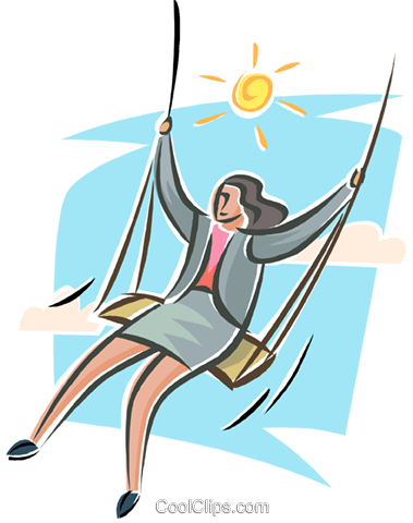 relaxation, woman with a swing Royalty Free Vector Clip Art illustration busi2550
