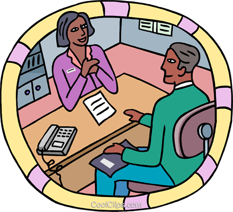 human resources, business interview Royalty Free Vector Clip Art illustration busi2591