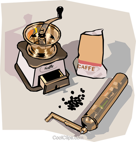 coffee grinder Royalty Free Vector Clip Art illustration food1249
