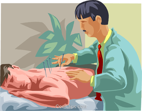 Acupuncture Royalty Free Vector Clip Art illustration medi0417