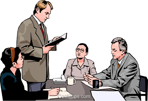 business meeting, people in business Royalty Free Vector Clip Art illustration peop4264