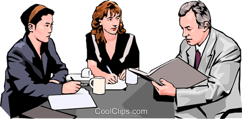 business meeting, people in business Royalty Free Vector Clip Art illustration peop4265