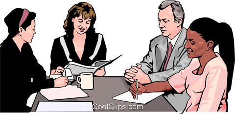 business meeting, people in business Royalty Free Vector Clip Art illustration peop4266